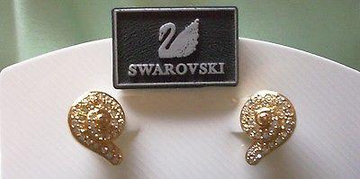 New! Genuine Swarovski Brand DAINTY SWIRL DESIGN Clip Earrings