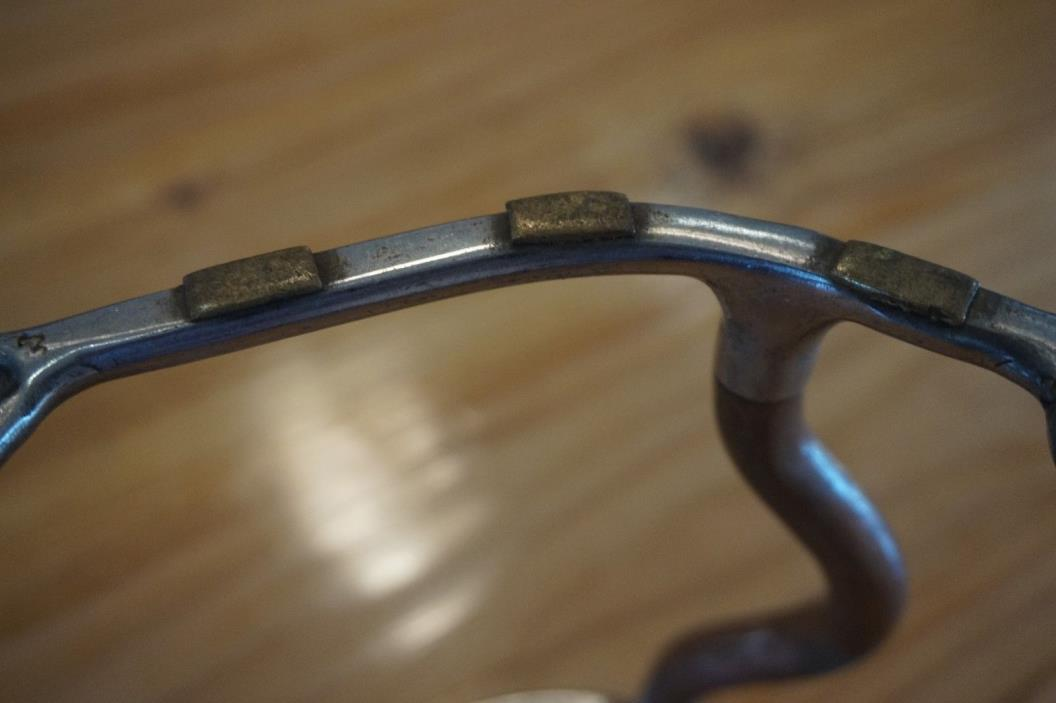 SS. Copper Mild Curb Bit with Brass Embellishments, 5in~~ Good Quality! VTG?