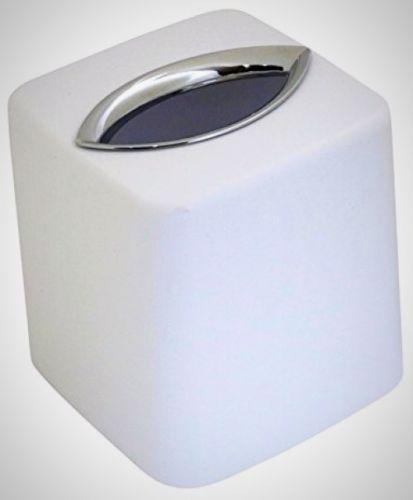 Iconikal Square Tissue Box Cover White Home Bath Dinnerware Kitchen Accessories