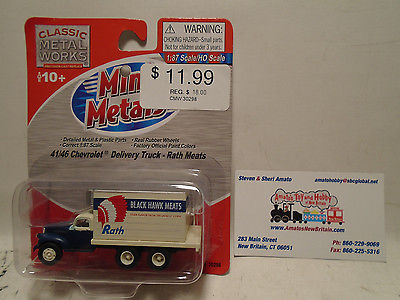 CLASSIC METAL WORKS #30298 HO SCALE 1941/46 CHEVY DELIVERY TRUCK RATH NEW IN PAC