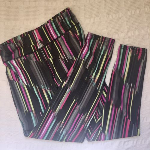 Gap Girls Black Patterened Leggings Sports GapFit Dry XXL Colorful Excellent