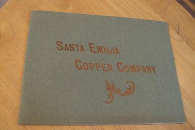 Antique ca. 1902 VERY RARE Mining Prospectus~SANTA EMILIA COPPER CO~NYC