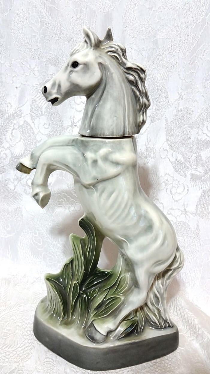 Vintage Horse Silver Stallion Decanter Figurine~ Regal China 1962 Jim Beam-Empty