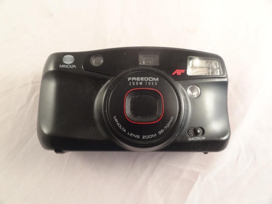 Minolta Freedom ZOOM 70EX 35mm Film Camera 35-70mm Macro AF