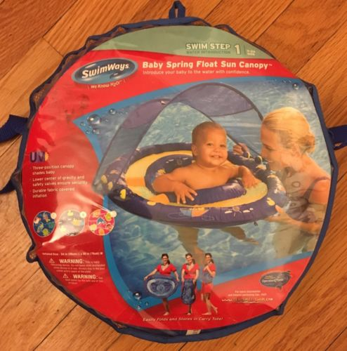Swimways Baby Spring Float Sun Canopy Swim Float 9-24 Months Easily Folds