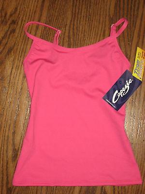 New girls pink Capezio  XS camisole top dance gymnastics nylon spandex dancewear