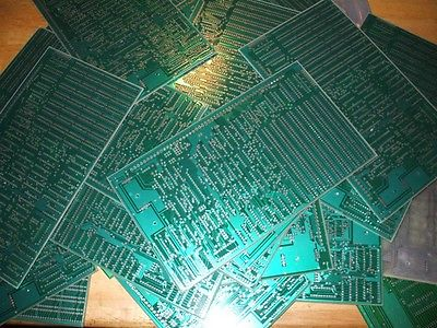 Lot of 30 Unpopulated Circuit Boards Green Board for Scrap Silver Recovery 7 lbs