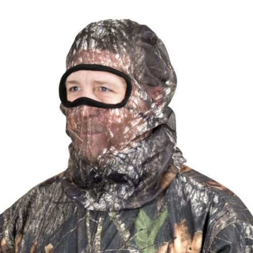 Mossy Oak Hunting Mask - Full Head Mesh - Brake Up Camo - Face Headnet Mosquitos