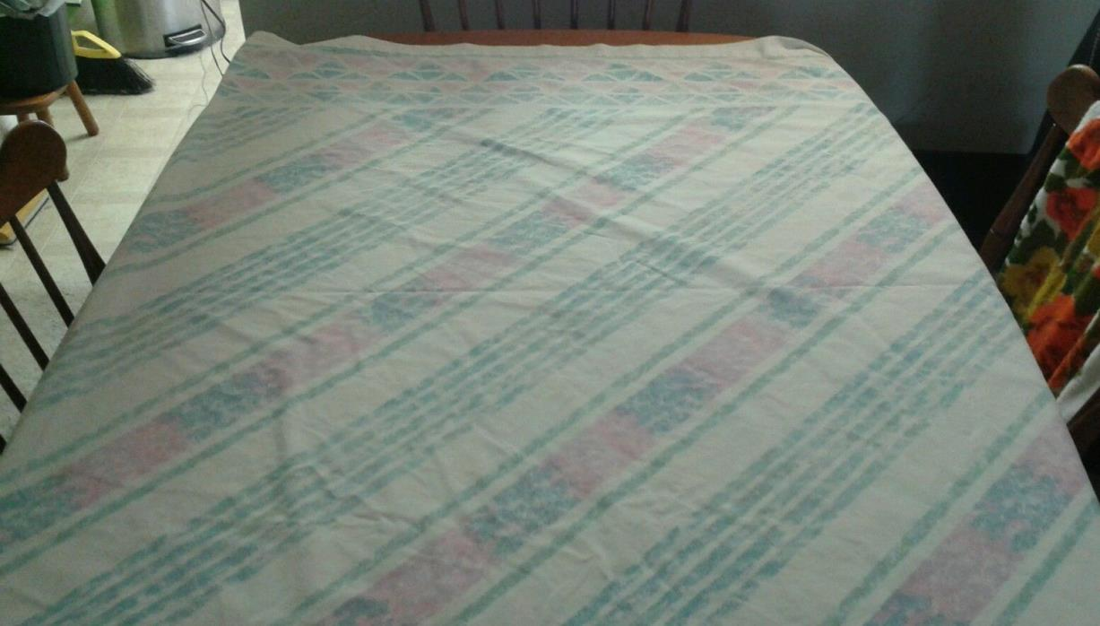 Vintage Cannon No Iron Flat Queen Sheet Graphic Watercolor Motif Bright Colors !
