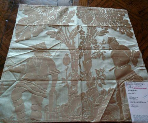 SCALAMANDRE Fabric Remnant - YANG TZE - SILK DAMASK Asian/Oriental  - INDIA $335