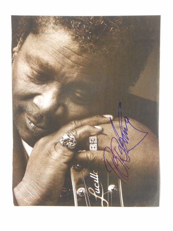 BB King SIGNED 8x10 Black and White Page from Magazine AUTOGRAPH