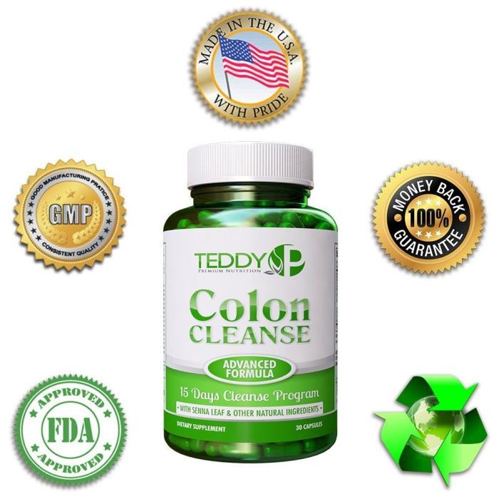 15 Day Colon Cleanse–30 Caps–Support Cleansing Detox Kit and Weight loss