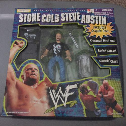 WWF Jakks Stone Cold Steve Austin Grapple Gear Set WWE