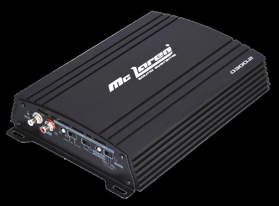 Class D Full Range 2 CH amplifier - Mc Laren Sound Systems 150 Wts X 2 D300.2