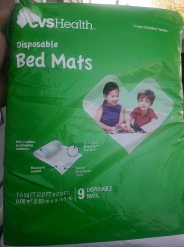 CVS Disposable Bed Mats 9 Count NEW