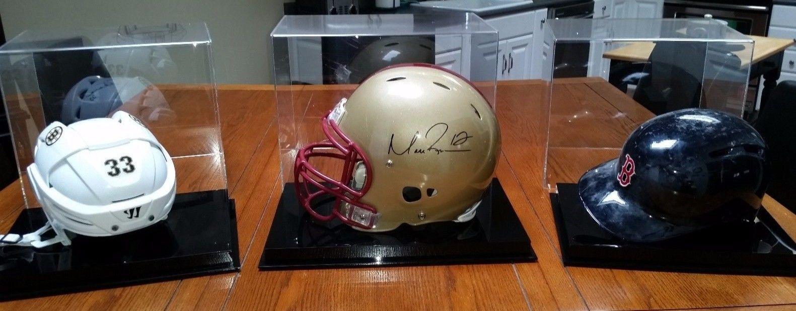 David Ortiz, Zdeno Chara autographed, Matt Ryan autographed, game worn helmets!!