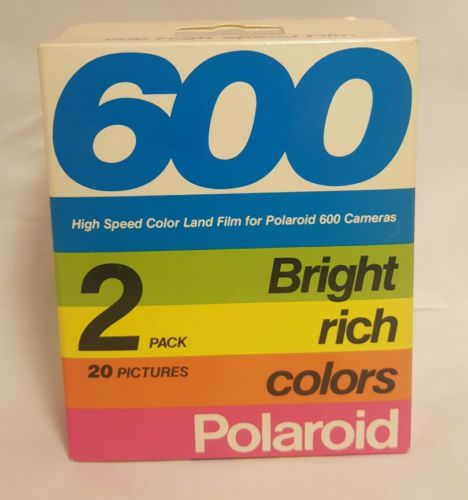 Polaroid instant 600 High Speed Land Film for Polaroid 600 Camera Bright 2 Pack