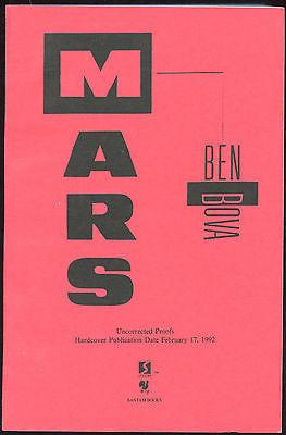 Fiction: MARS by Ben Bova. 1993. ARC
