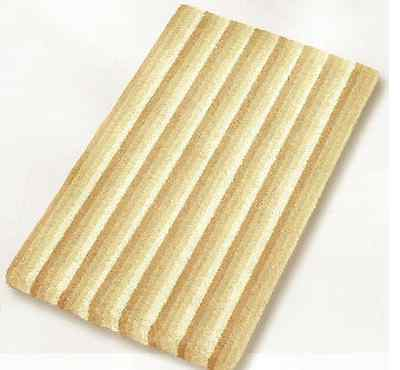 Fun Bath Rugs Bamboo Beige 21.7x25.6 in 55x65 cm