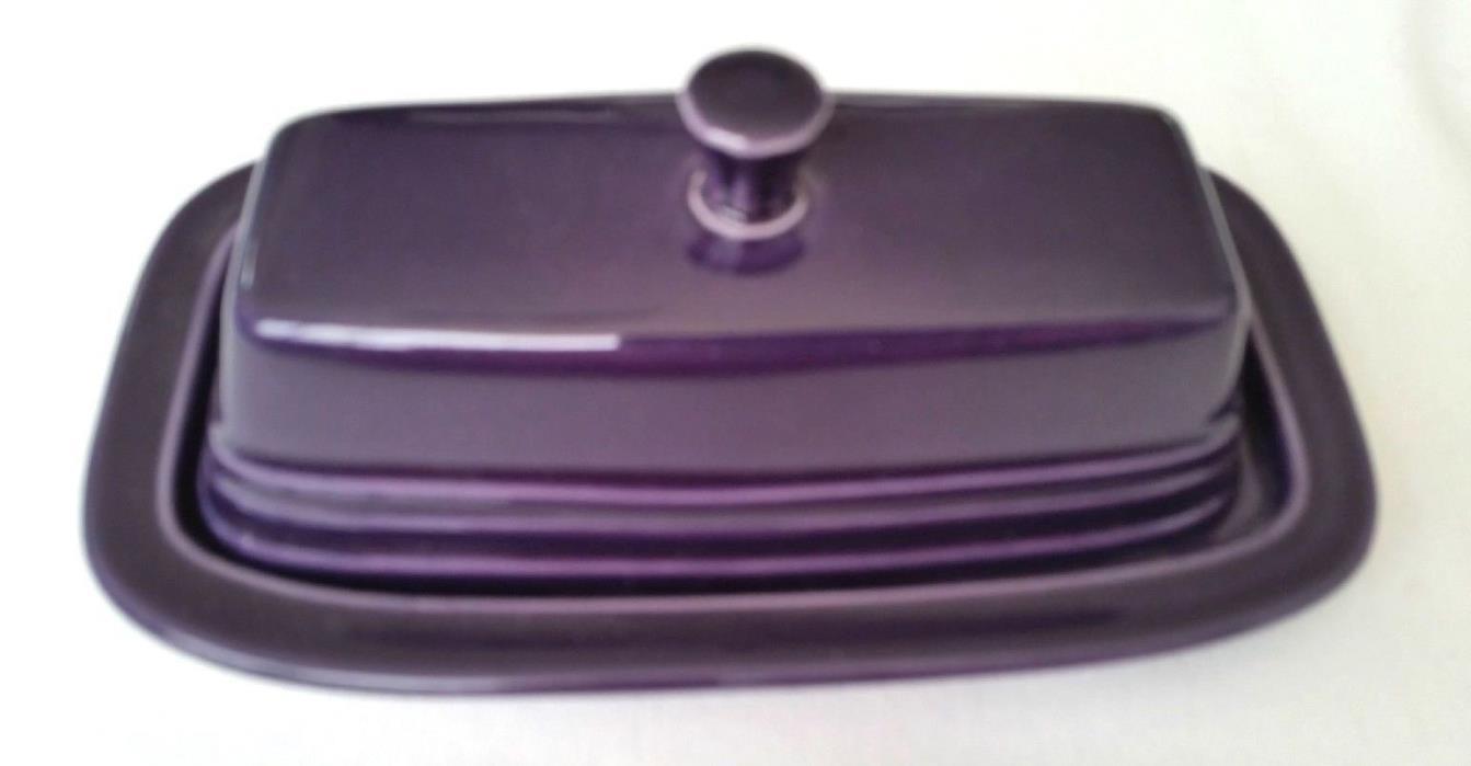 FIESTA WARE Butter Dish Plum Purple Homer Laughlin Fiestaware NEW! Retired