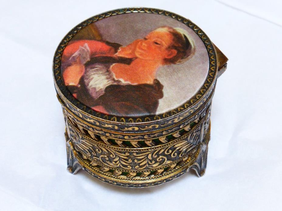 Vintage Ormolu Gold Gilt Jewelry Box