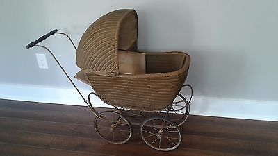 Antique vintage Baby, Doll buggy carriage