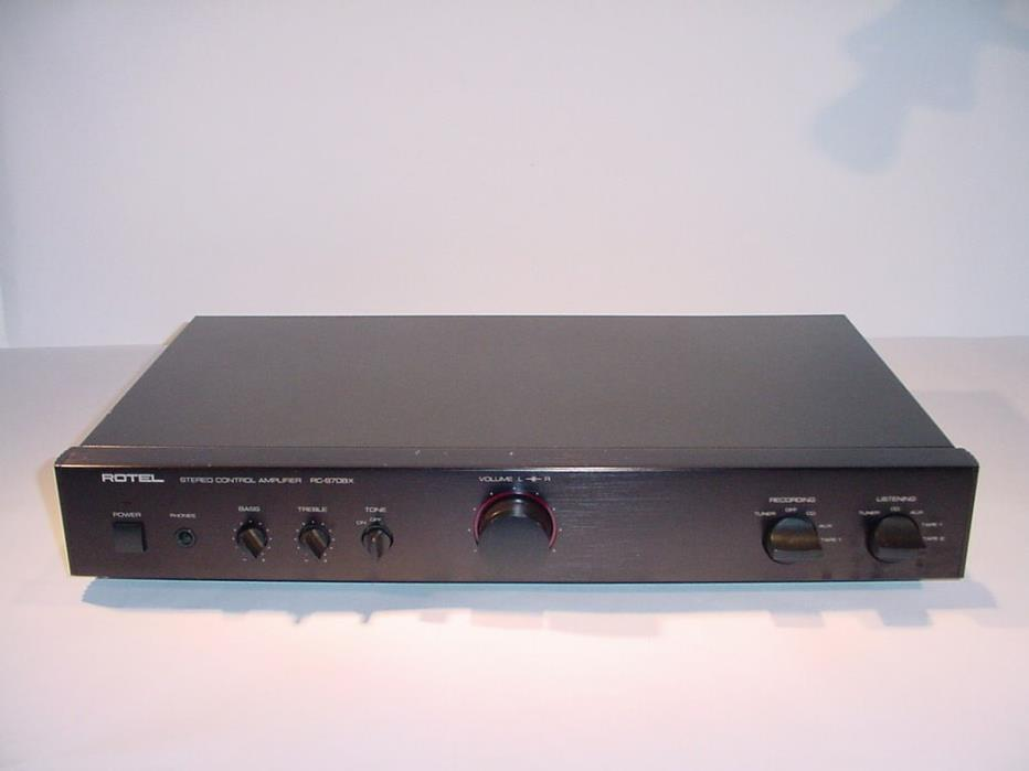 The Rotel RC-970BX MKII stereo PREAMPLIFIER