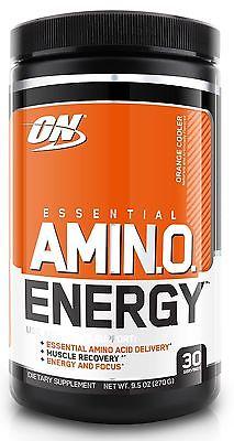 Optimum Nutrition Amino Energy w Green Tea and Green Coffee Extract, Orange, New
