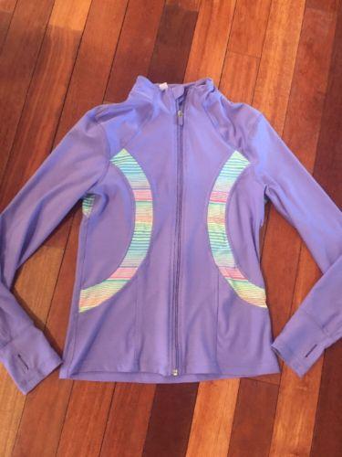 90 Degree By Reflex Girl Purple Thumb Hole Long Sleeve Full Zip Jacket Size L