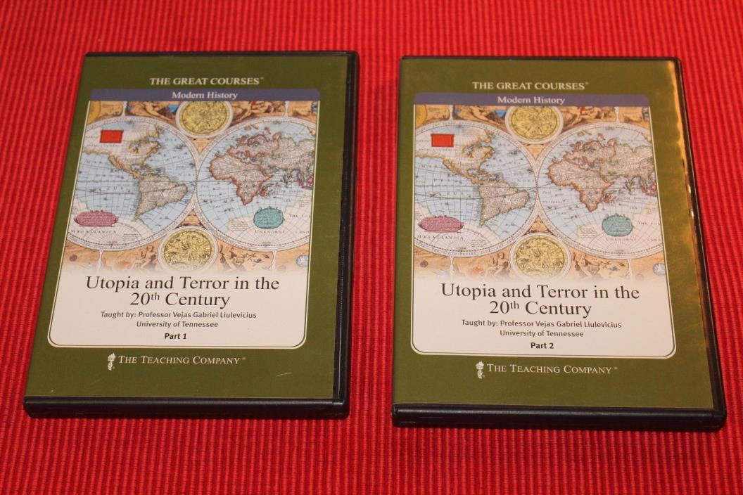Great Courses Utopia and Terror in the 20th Century CDs No Guidebook