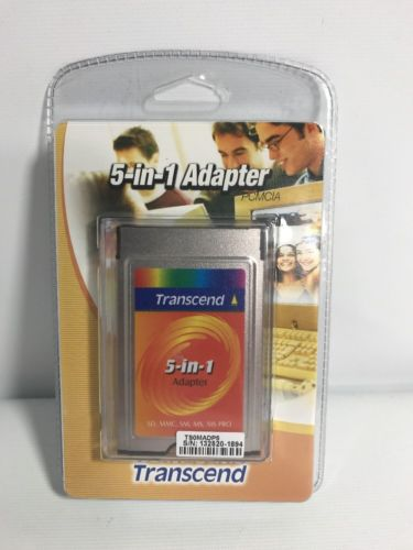 Transcend 5-in-1 PCMCIA Adapter Sealed Package TS0MADP5