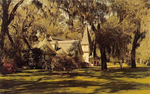 St Simons Island Georgia~Christ Church~1960 Postcard