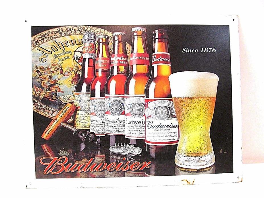 Budweiser Advertisement Tin Sign (2004)