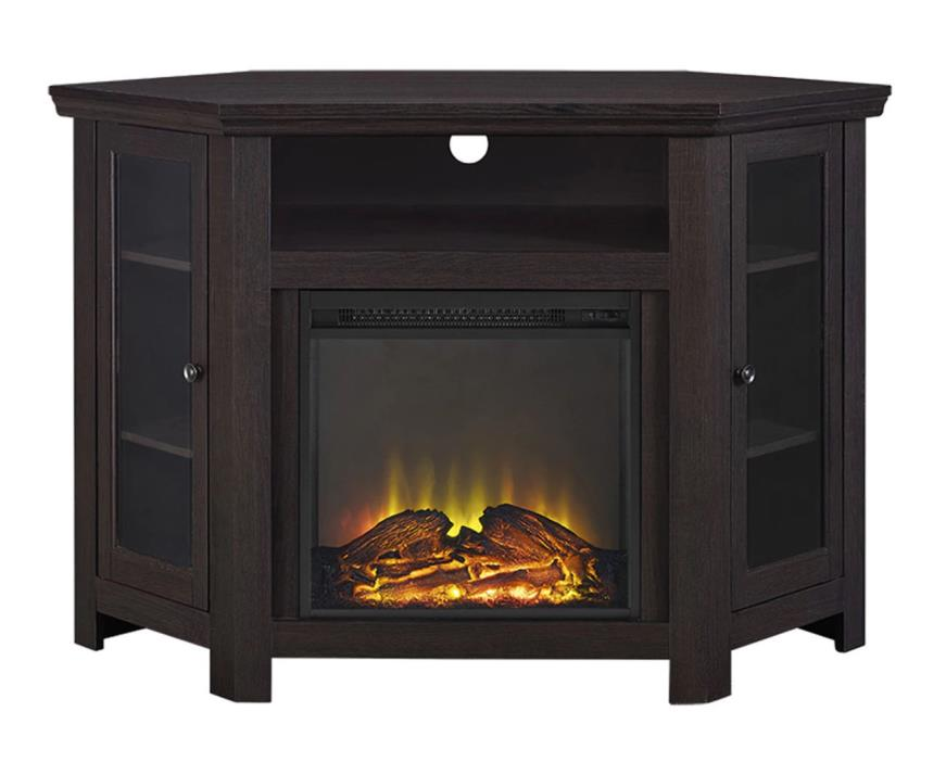 Entertainment Center With Doors Espresso 48