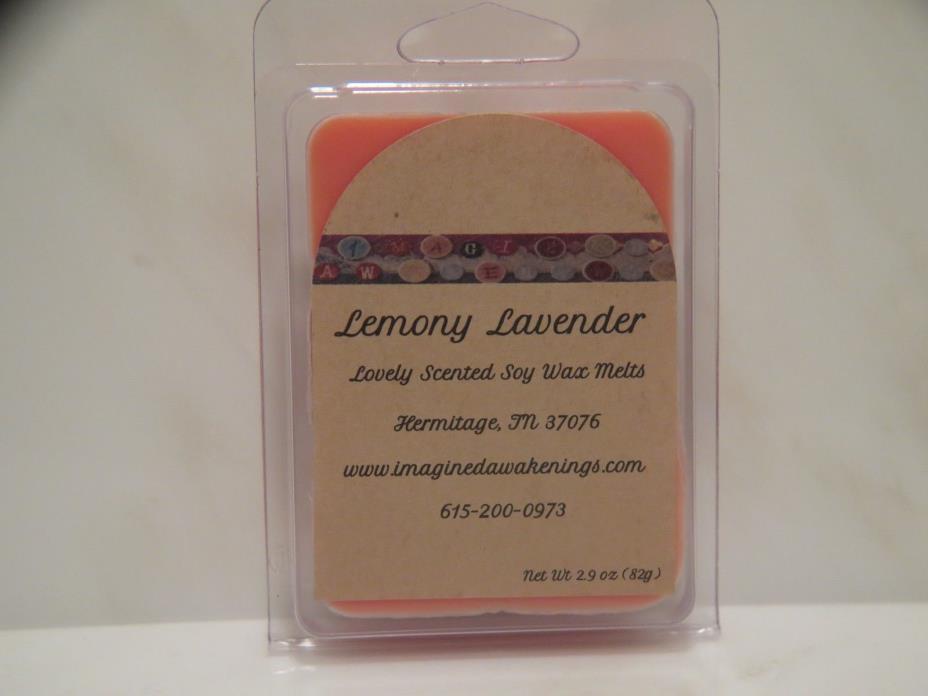 Soy Wax Melt - Lemony Lavender Soy Wax Tart - Floral Scented Wax Melt