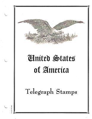 United States Telegraph Stamp Album Pages For 3 Ring Album  #02 TELP
