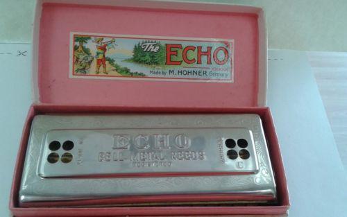 M.Hohner Vintage Echo Harp Harmonica.
