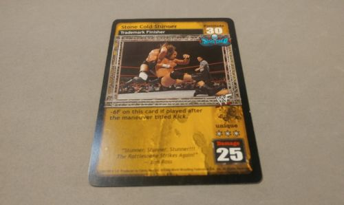 WWE Raw Deal WWF STONE COLD STUNNER PROMO CARD