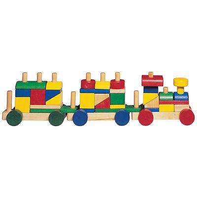 Cheery Choo Choo Wooden Stacking Blocks Train Set