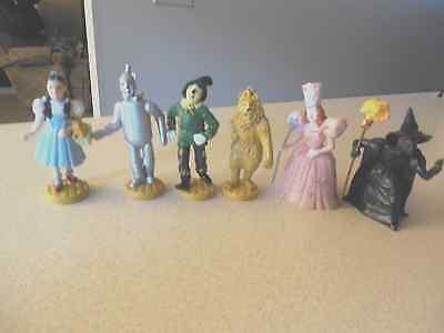 Set Of 6 Vintage Wizard Of Oz Figures Presents 1939 Lowes-Ren 1966-Turner 1987