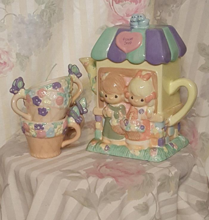 Precious Moments Flower Shop Tea Set