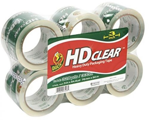 Duck Brand HD Clear High Performance Packaging Tape, 3-Inch X 54.6-Yard, Clear,