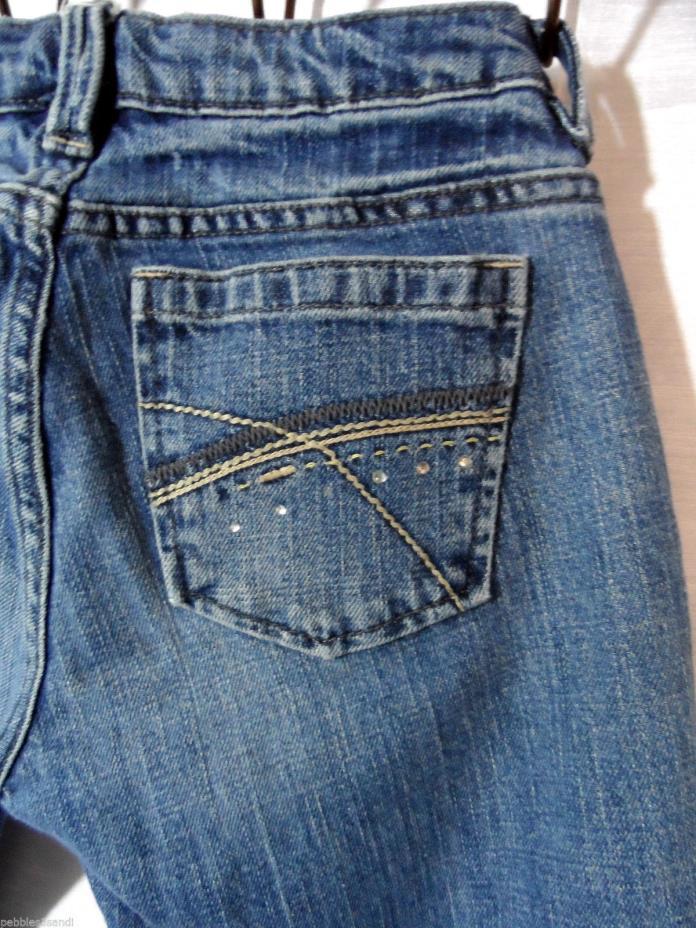 GAP DENIM Jeans Girls 14 R Bling Rhinestones Medium wash Skinny leg 26x28 Stitch