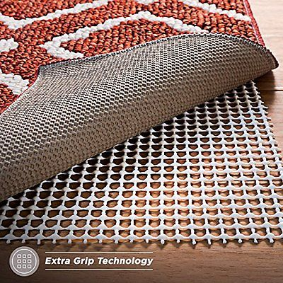 Non-Slip Rug Pad for Hard Floors, Extra-Strong-Grip Thick Padding (3x5-Feet)