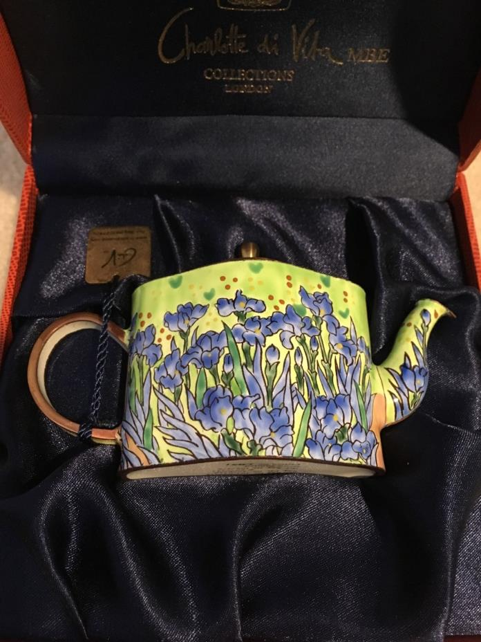 Charlotte Di Vita IRISES by Vincent Van Gogh Enamel Teapot