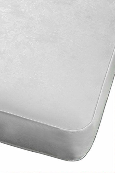 White Crib Mattress Waterproof Nursery Furniture Toddler Baby Bed