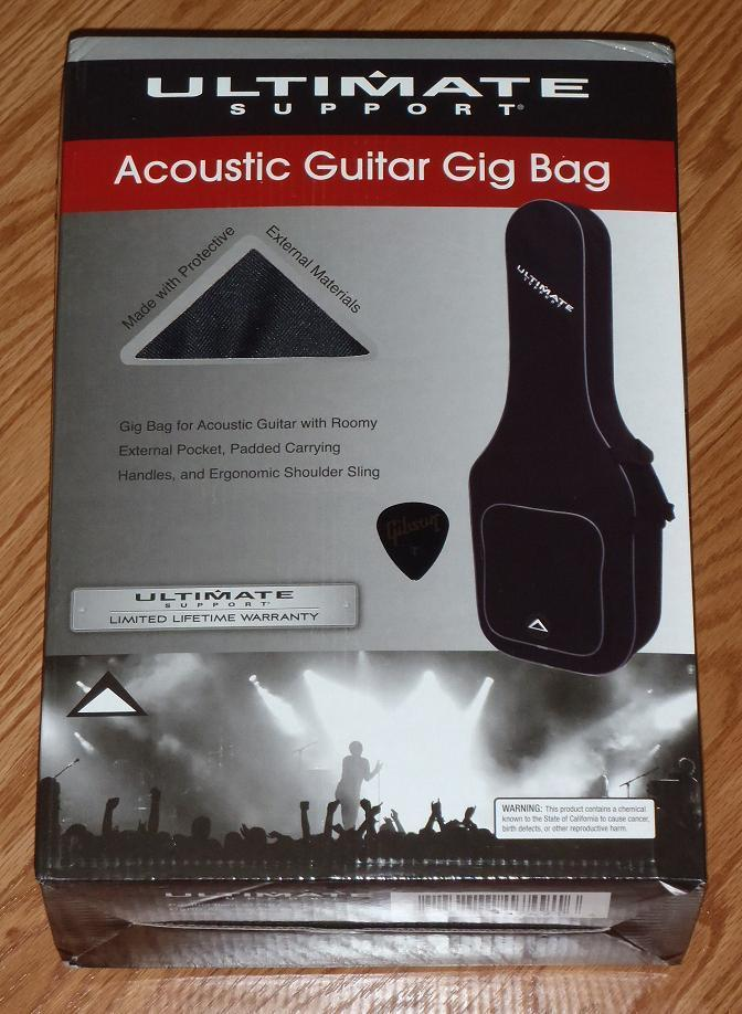 Guitar Gig Bag Ultimate Acoustic Soft Carry Case Black Parts Project Pick New T