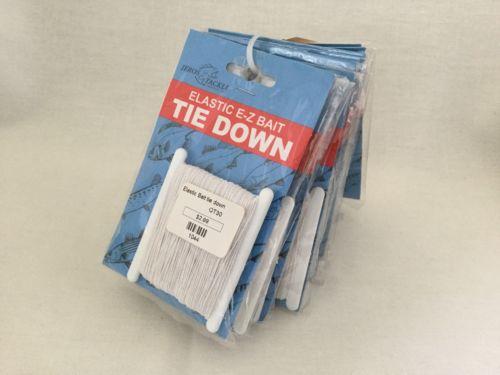 JEROS TACKLE Elastic E-Z Bait Tie Down 1044/QT30-Fishing-Lot Of 11.      #2692