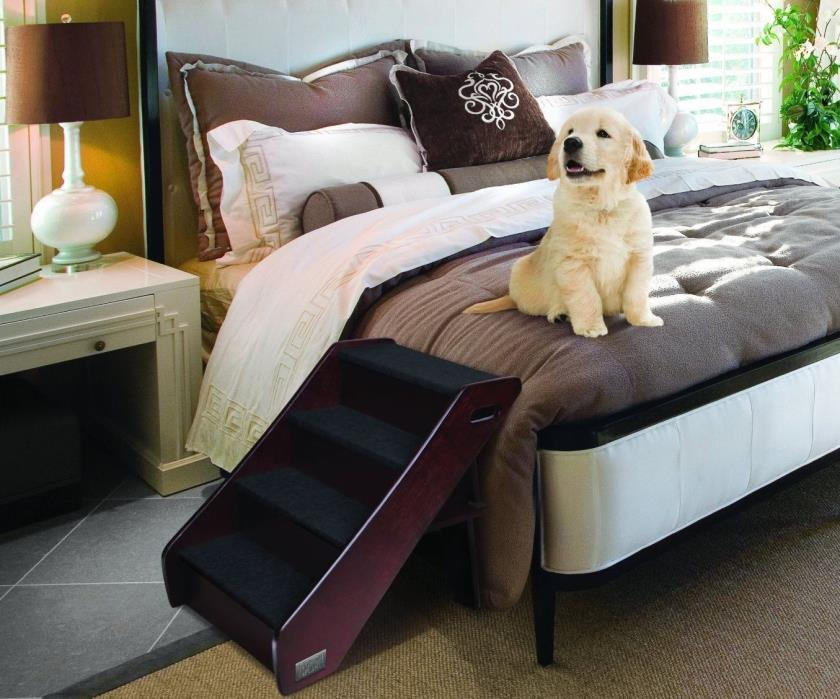Animal Planet Pet Stairs For Large Dog High Bed Tall Ramp Wooden Ladder Portable