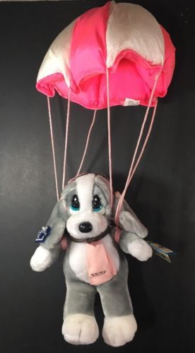 Basset Hound Plush Applause Skydiving Honey Sad Sam Dog Paratrooper Parachute
